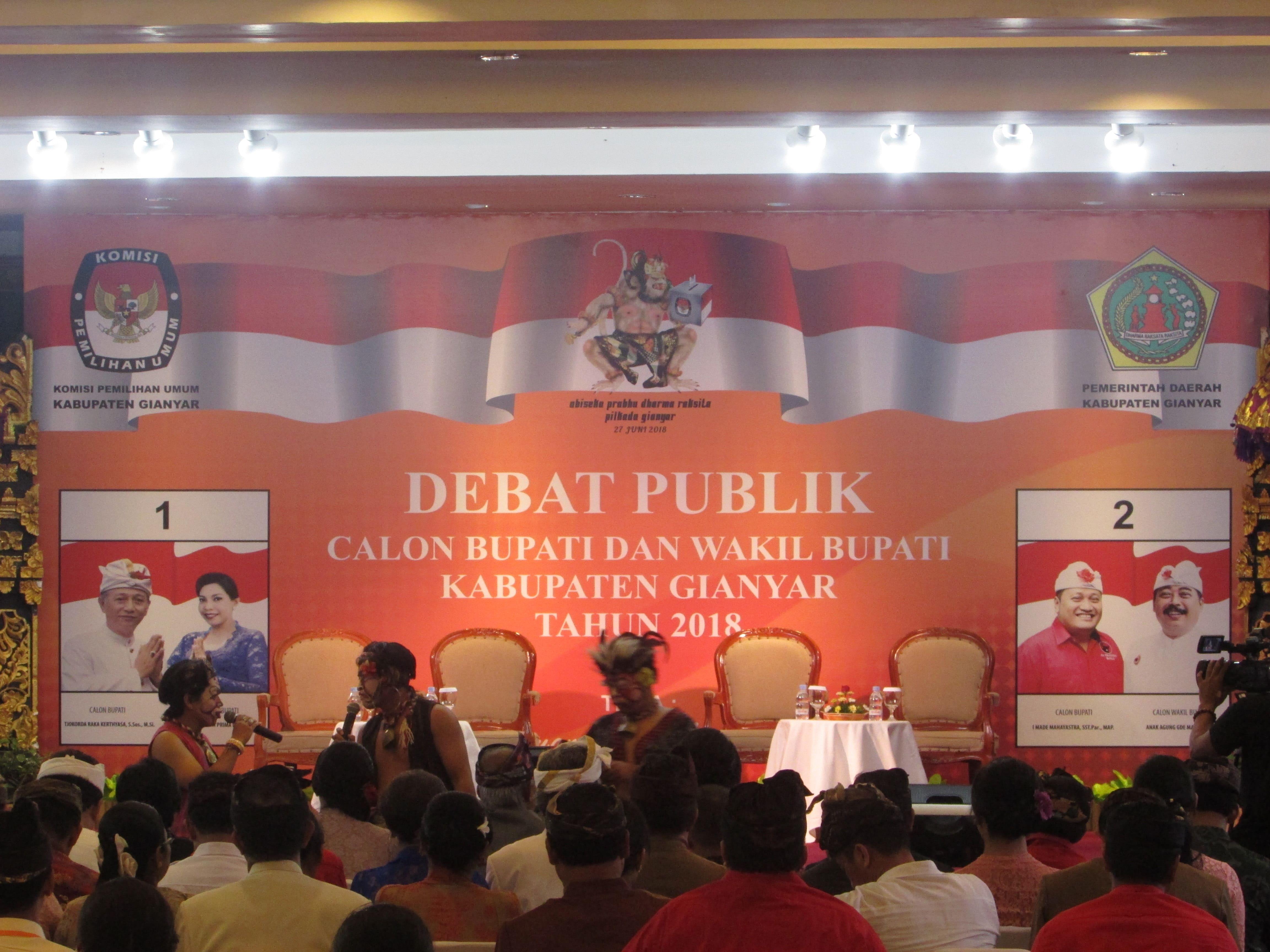 Debat Publik Kampanye Tahap 1 Pilkada Gianyar 2018